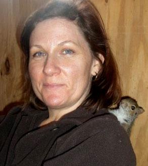 Sara with chipmunk friend